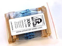300 metal film resistor kit 1% 30 kinds, 10 each - smarter electronics by universal solder