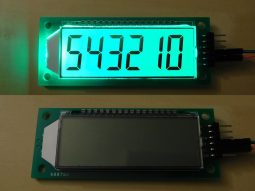 LCD 7-Segment 6-Digits with serial interface and back light