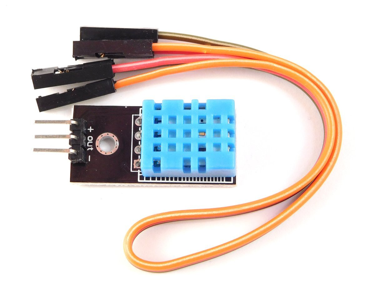 Dht11 Temperature Humidity Sensor 16bit Digital And Arduino Library Wiring