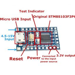 STM8 STM8S103F3P6 USB Development Board
