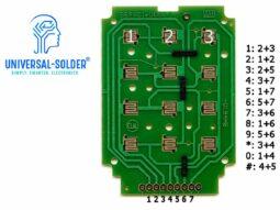 3x4 Array Matrix Keypad, hard keys, black, Arduino