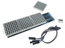 8x8 64-Dot-Matrix, 4 Modules, for Arduino Raspberry STM