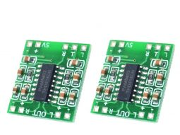 2 pcs 3 Watt Stereo Mini Class-D Audio HiFi Amplifier Module, 5V