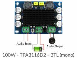 TPA3116D2 100W Mono HiFi Power Amplifier