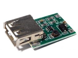 DC-DC boost converter 5V out, min. 0.9V input, 600mA, USB