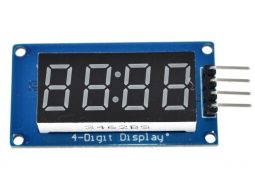 4-digit LED display, serial interface, TM1637 chip, for Arduino etc.