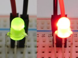 50 x LED dual color green red, 3mm, foggy, T-1 package, common anode