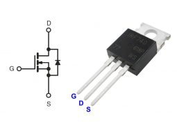 IRF740 N-Channel Power MOSFET TO-220 400V 10A