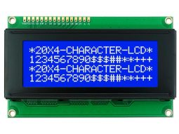 LCD 2004 20x4 Blue, White Backlight, parallel or I2C serial, Arduino