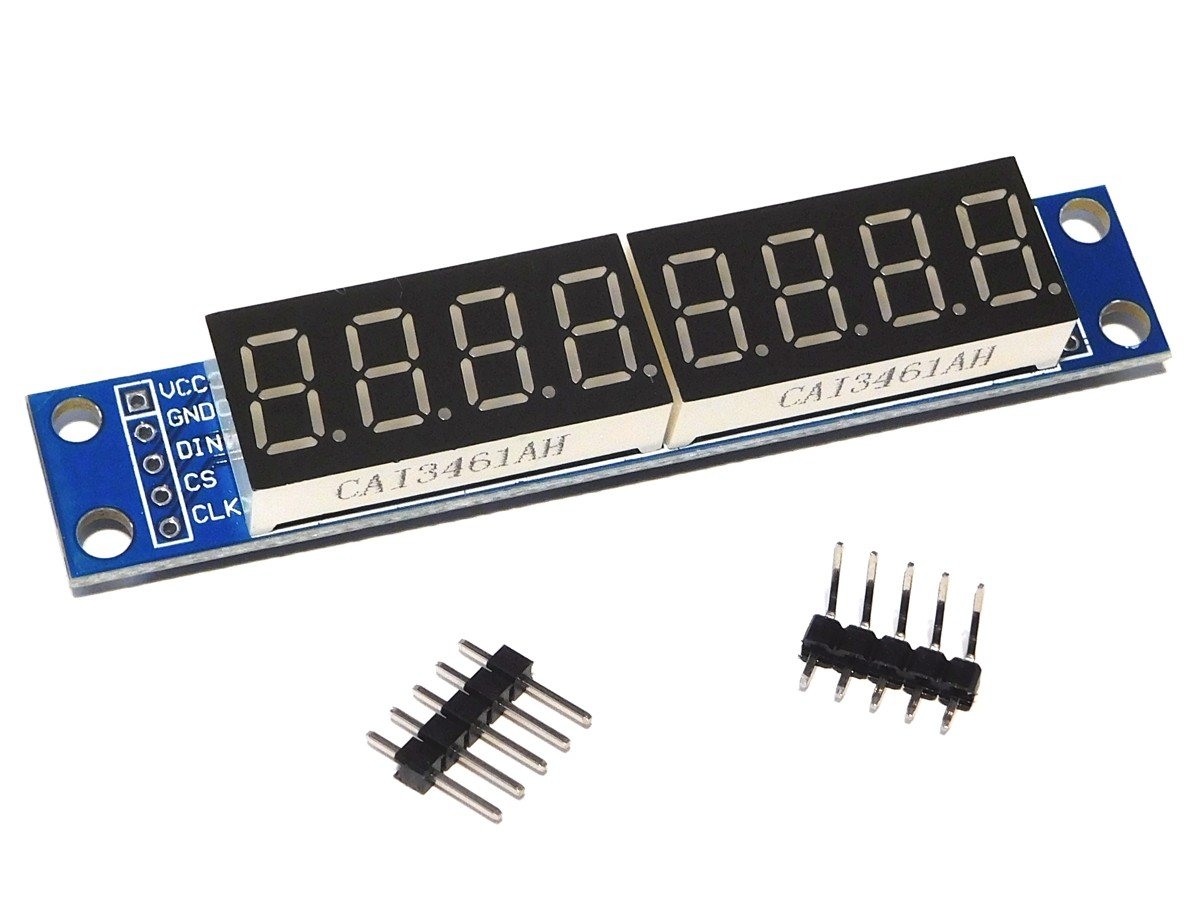 8 Digit Serial Led 7 Segment Display Max7219 95mm Bcd To Sevensegment Decoder With A Seven