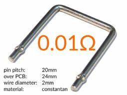 High-Power Measuring Resistor - Instrument Shunt - 0.01 Ω