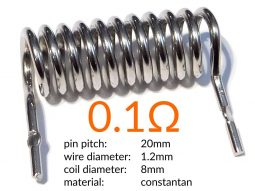 High-Power Measuring Resistor - Instrument Shunt - 0.1 Ω