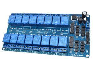 16 Relay Module Shield 12-24V for 3.3V-5V logic