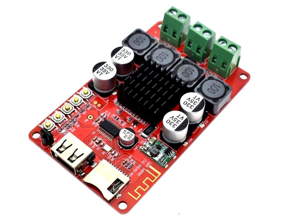 2 X 50 Watt Class D Stereo Amplifier Fm Radio Bluetooth Mp3 Player Remote