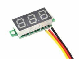Digital LED Voltmeter 3-Digit 100VDC 7mm