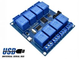4 Relay Module ICSE012A with USB control for Windows Linux 250V 10A