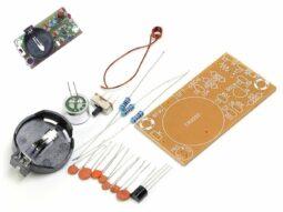 FM Wireless Spy Microphone, Battery operated, DIY solder Kit
