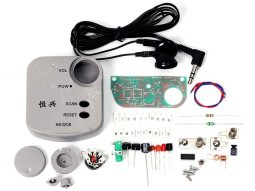 FM Pocket Radio DIY Kit, SMD, incl. head phones ear plugs