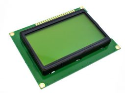 LCD12864 128x64 Graphic Display, green-yellow, ST7920