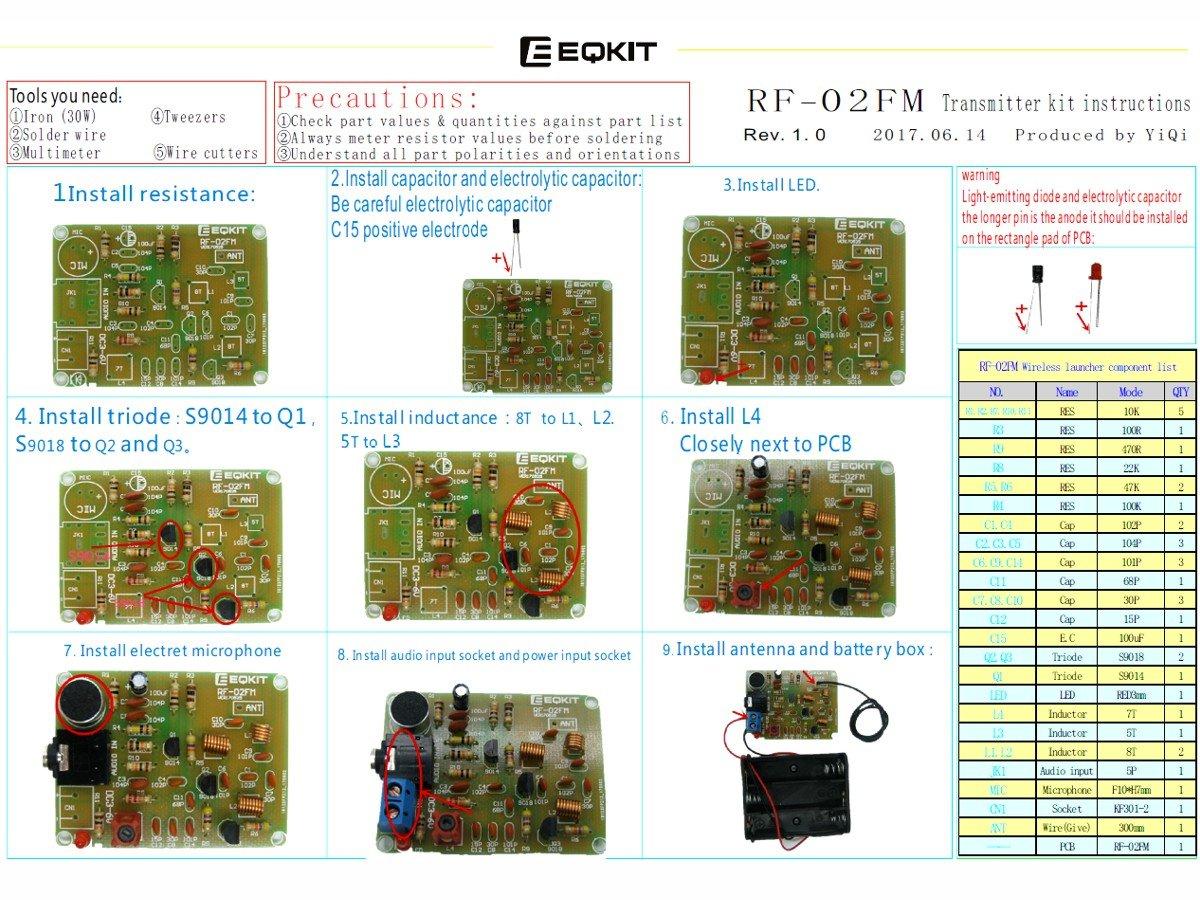 Fm Wireless Microphone Transmitter Diy Solder Learning Kit Phone Spy
